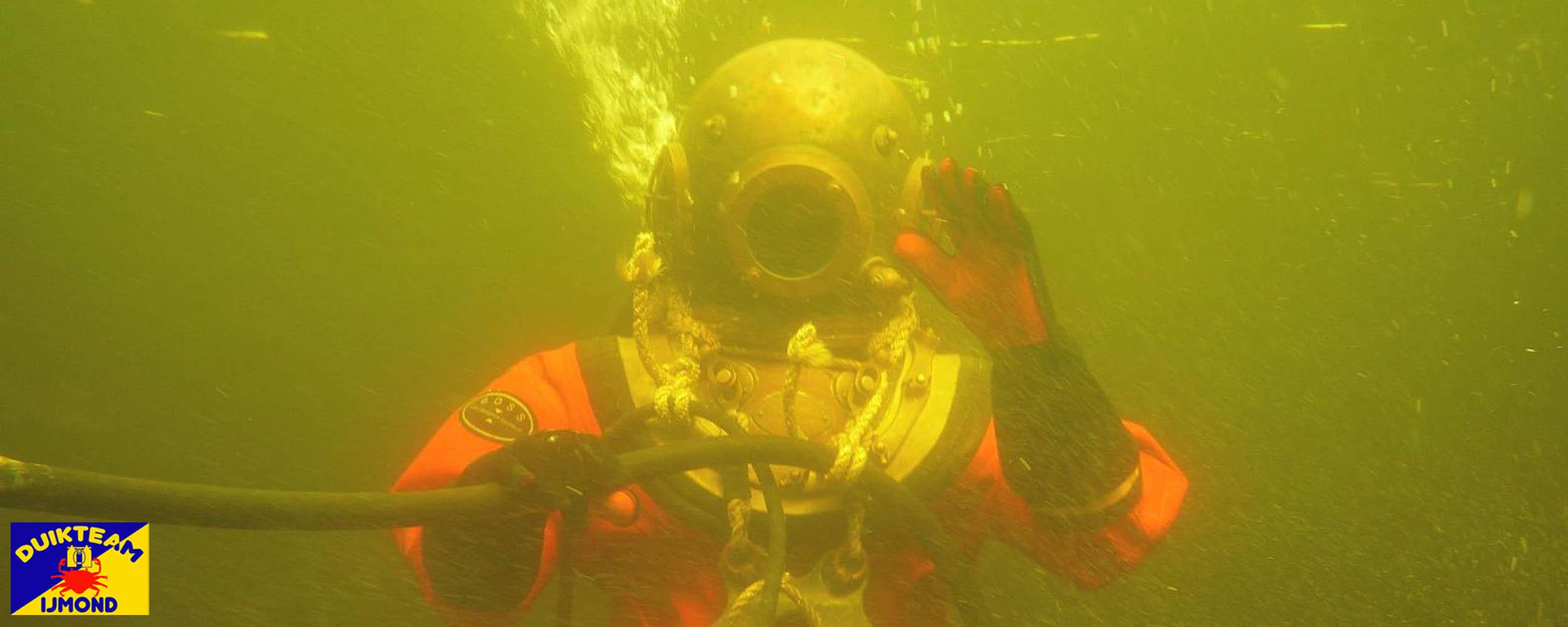 helmduiken en maskerduiken met duikteam ijmond