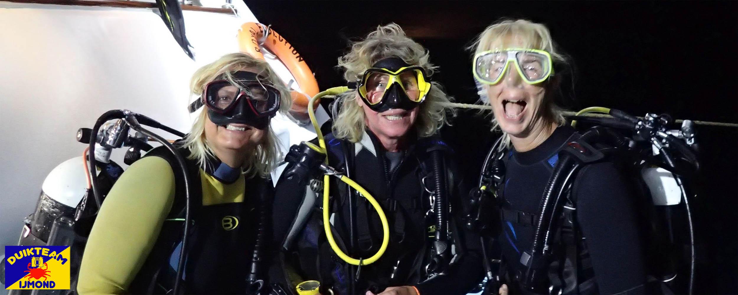 Ook de dames duiken bij duikteam ijmond