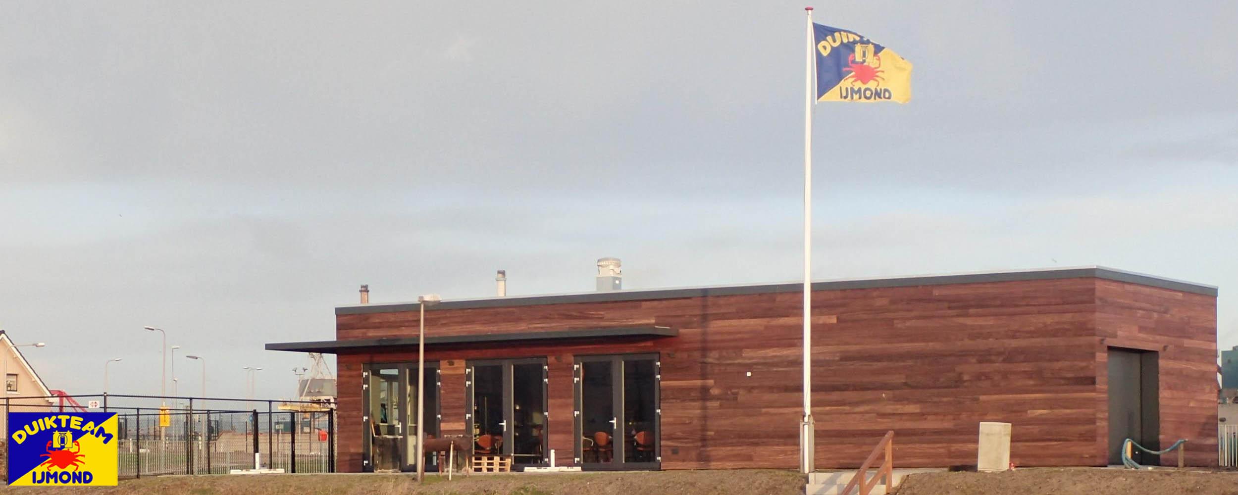het clubhuis van duikteam ijmond