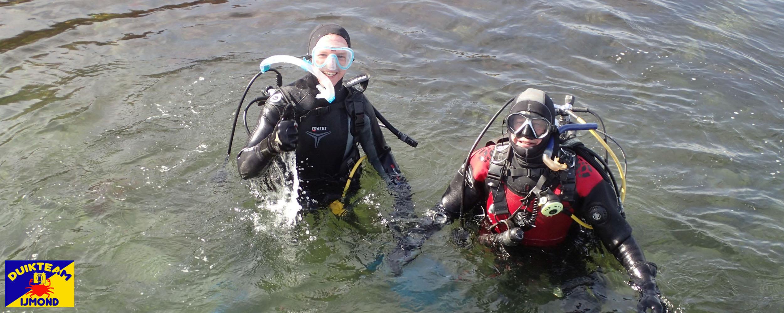 De eerste buitenwaterduik in Zeeland