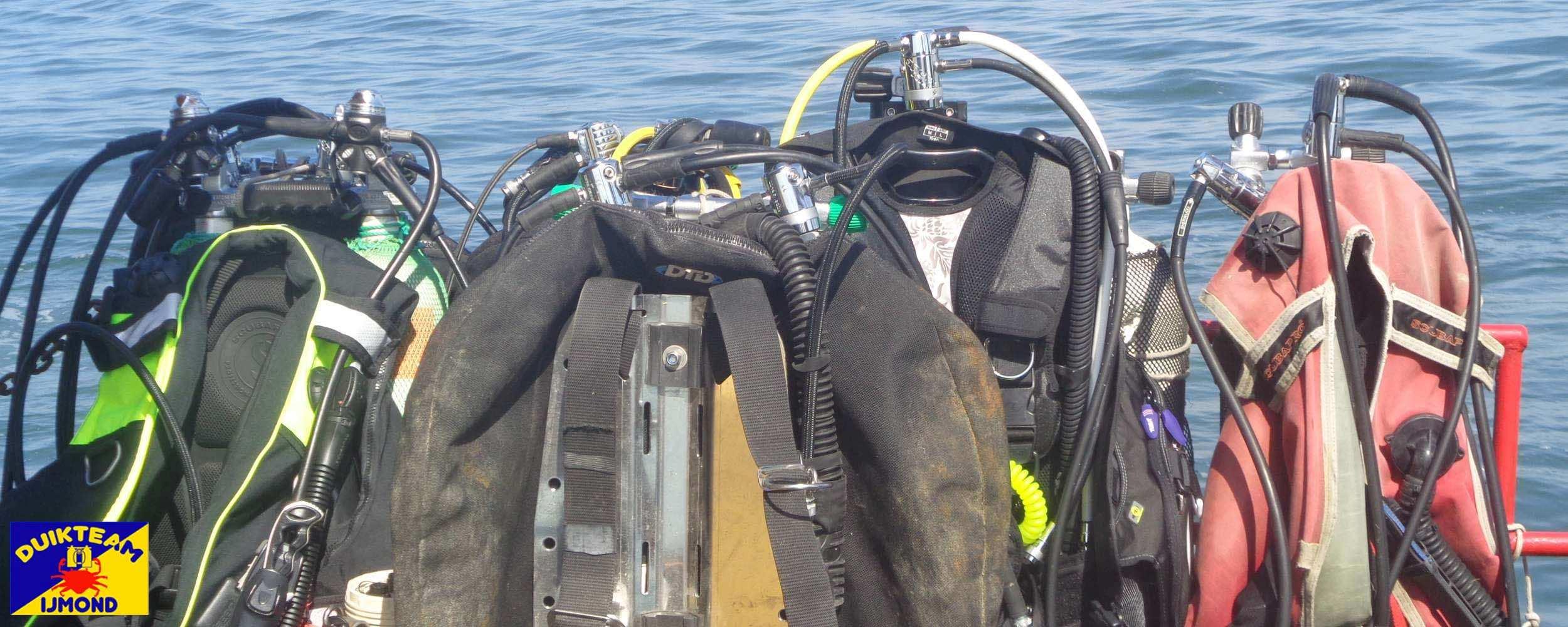 Divegear na de duik